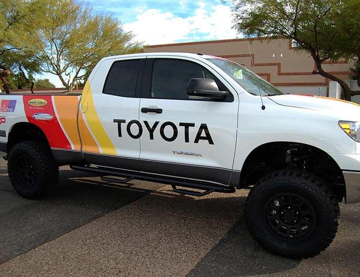 Toyota Retro Truck Vehicle Graphics Black Iron Creative