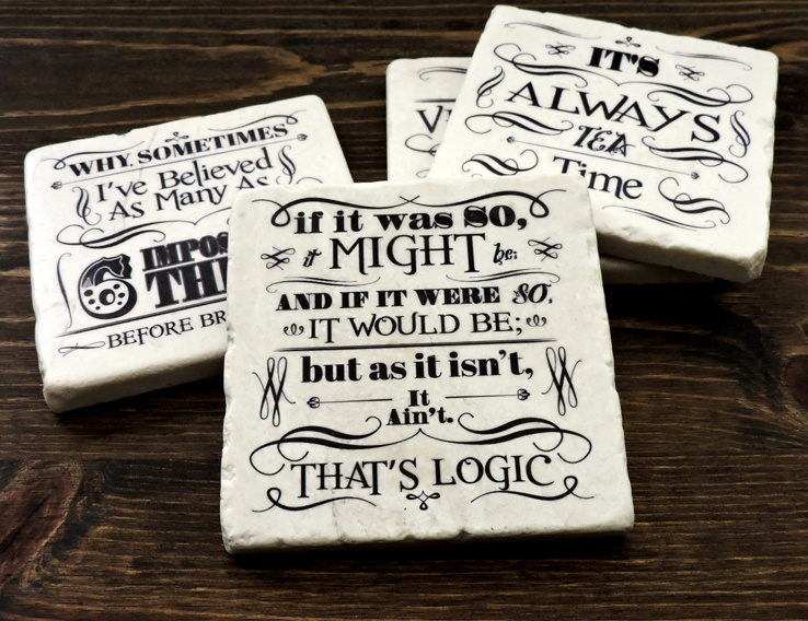 Alice In Wonderland  – Coaster Set