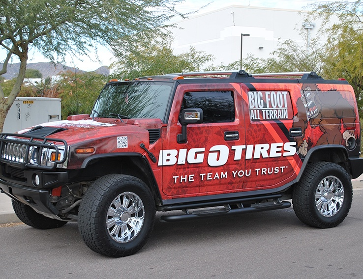 Big O Tires H2 Hummer – Vehicle Graphics