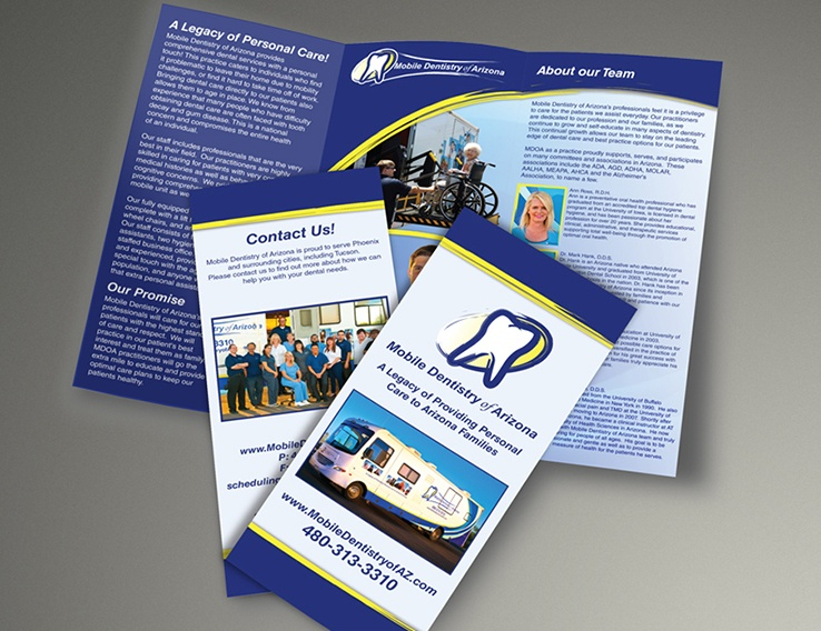 Mobile Dentistry of Arizona – Trifold Brochure