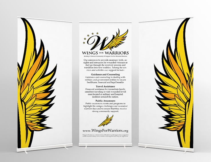 Wings for Warriors – Trade Show Graphics